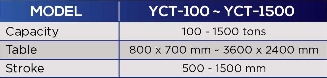 yeh chiun hydraulic press specification